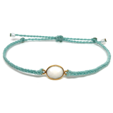 image of White Agate gemstone bracelet mint