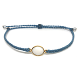 image of White Agate gemstone bracelet sky blue