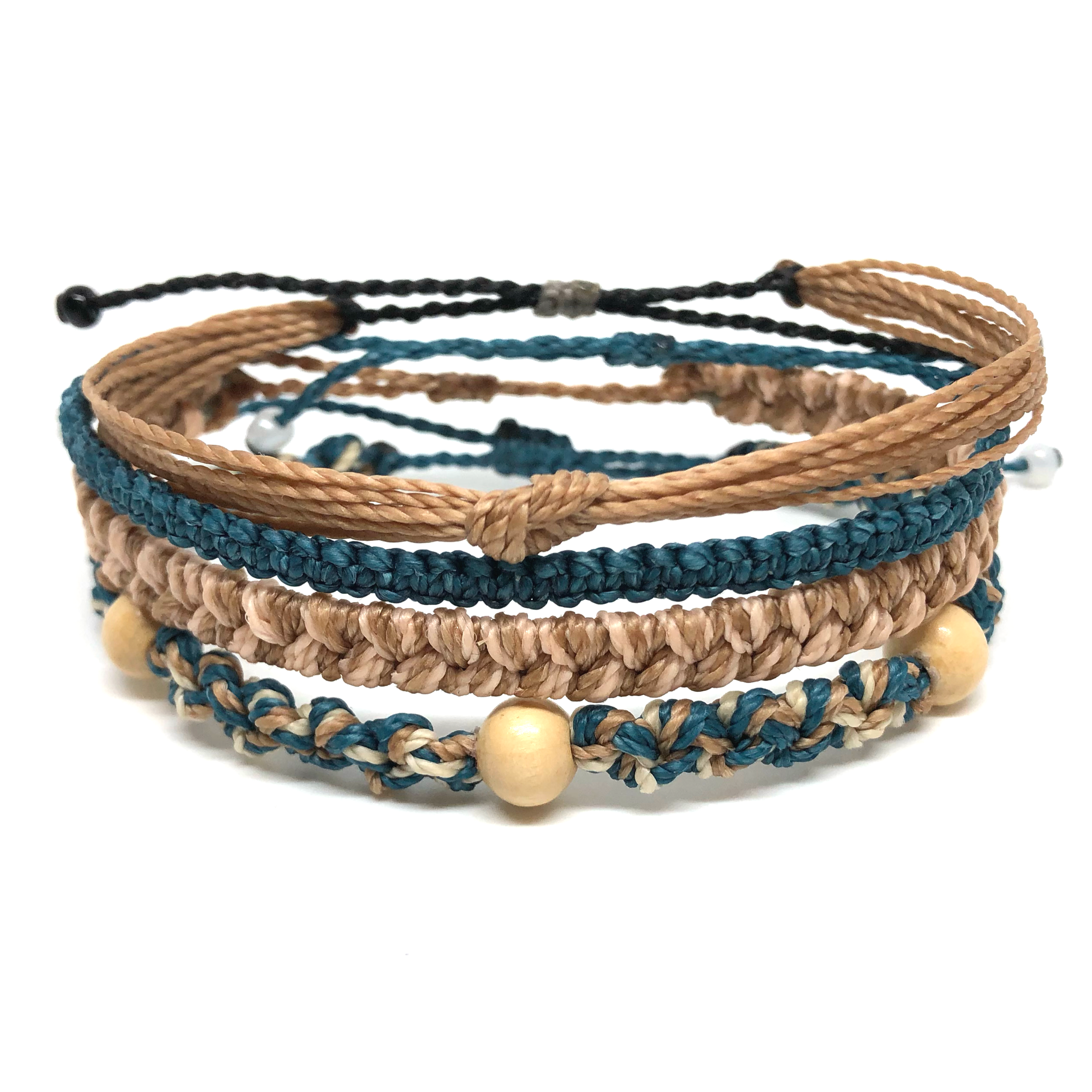 image of Tulum multi-layer bracelet set 4 ayers