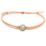 Gemstone Bracelet - Mini Moon - Peach