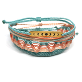 Charm Bracelet Set - Vacay Mode - Luna mint peach coral
