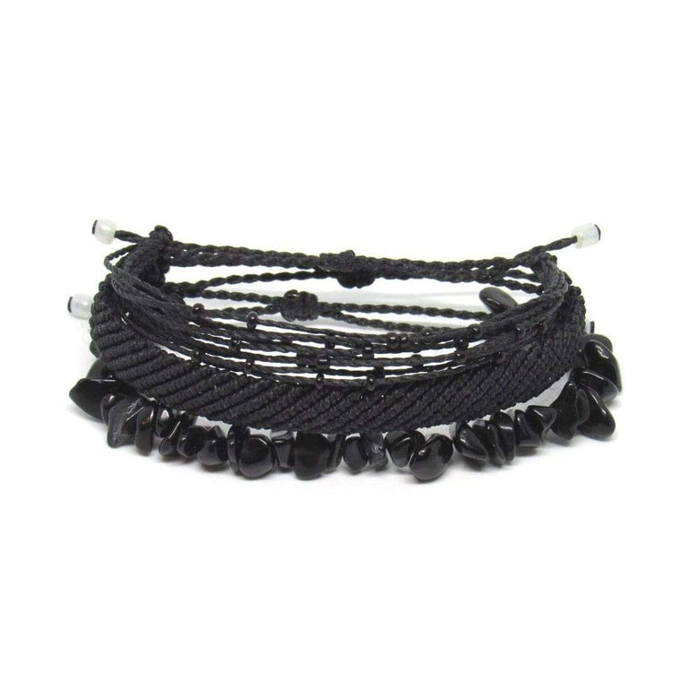 Beaded Bracelet Set - Black Beauty