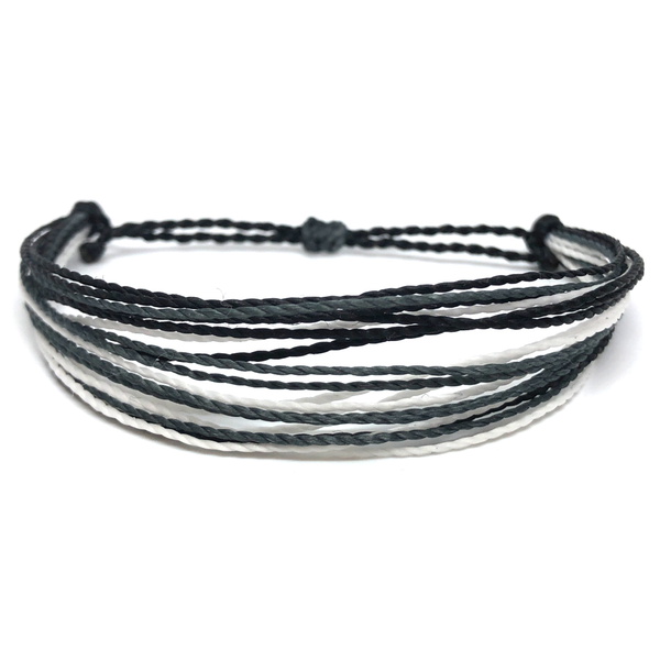 Simple String Bracelet - Black Tie