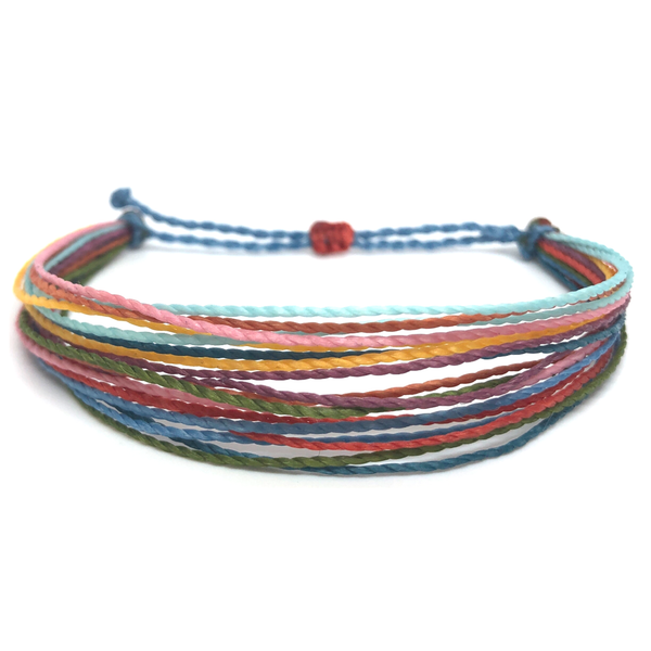 Simple String Bracelet - Rainbow