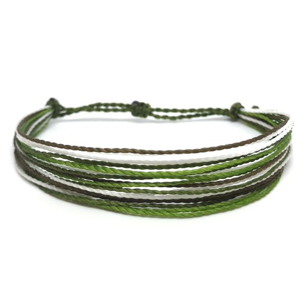 Simple String Bracelet - Forest