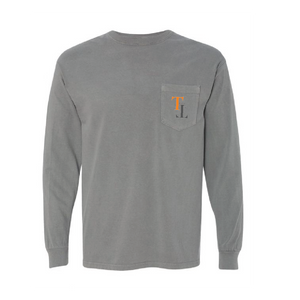 gray shirt with TriStar Tees logo on the pocket