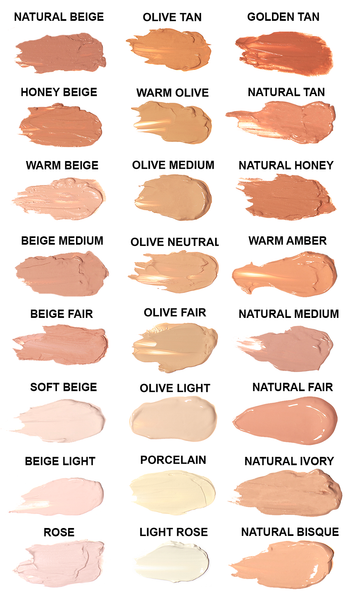 LIQUID FOUNDATION SWATCHES