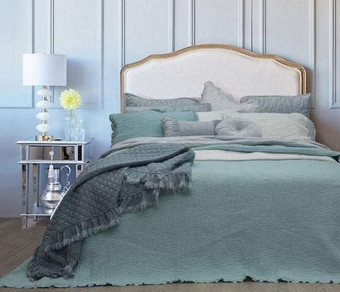 NOOSA COVERLET ICE BLUE KING