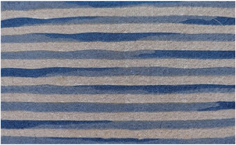 Blue & White Stripe Door Mat