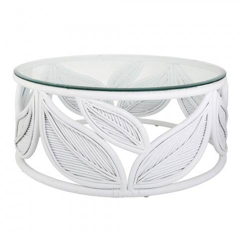 SEVILLE LEAF COFFEE TABLE WHITE