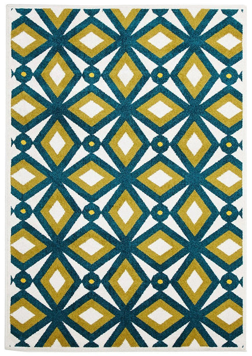 Marquee Indoor Outdoor 302 Blue Rug