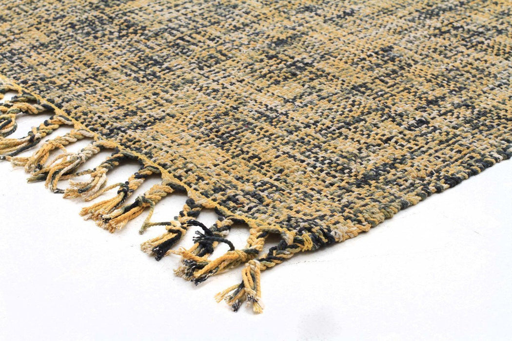 Nordic Sunshine Cotton Flat woven Yellow Rug