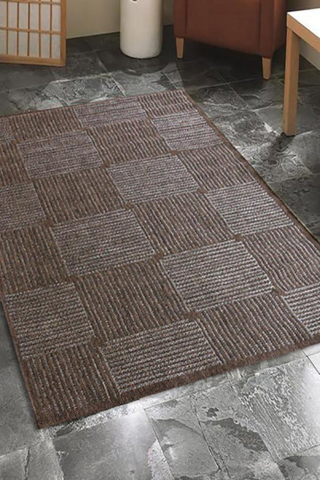 Pavilion Indoor Outdoor 633 Brown Rug