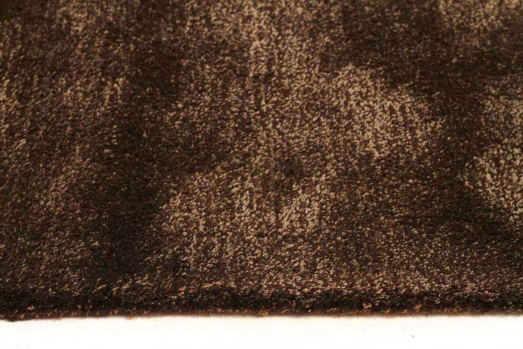 Tweed Collection Brown Rug
