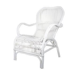 GAIL RATTAN ARM CHAIR WHITE