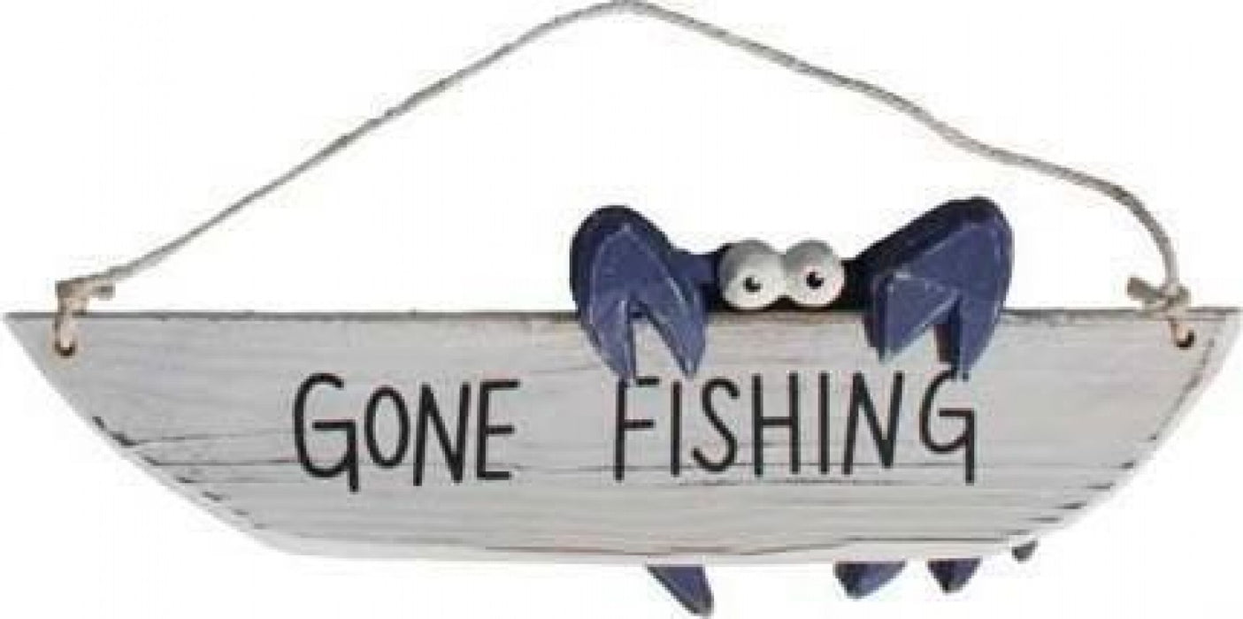 Gone Fishing Crab Sign