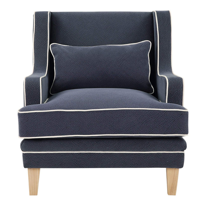 Bondi Armchair Navy with White Piping