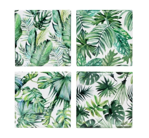 COASTER-TROPICAL LEAVES (4STYLES) 11CM