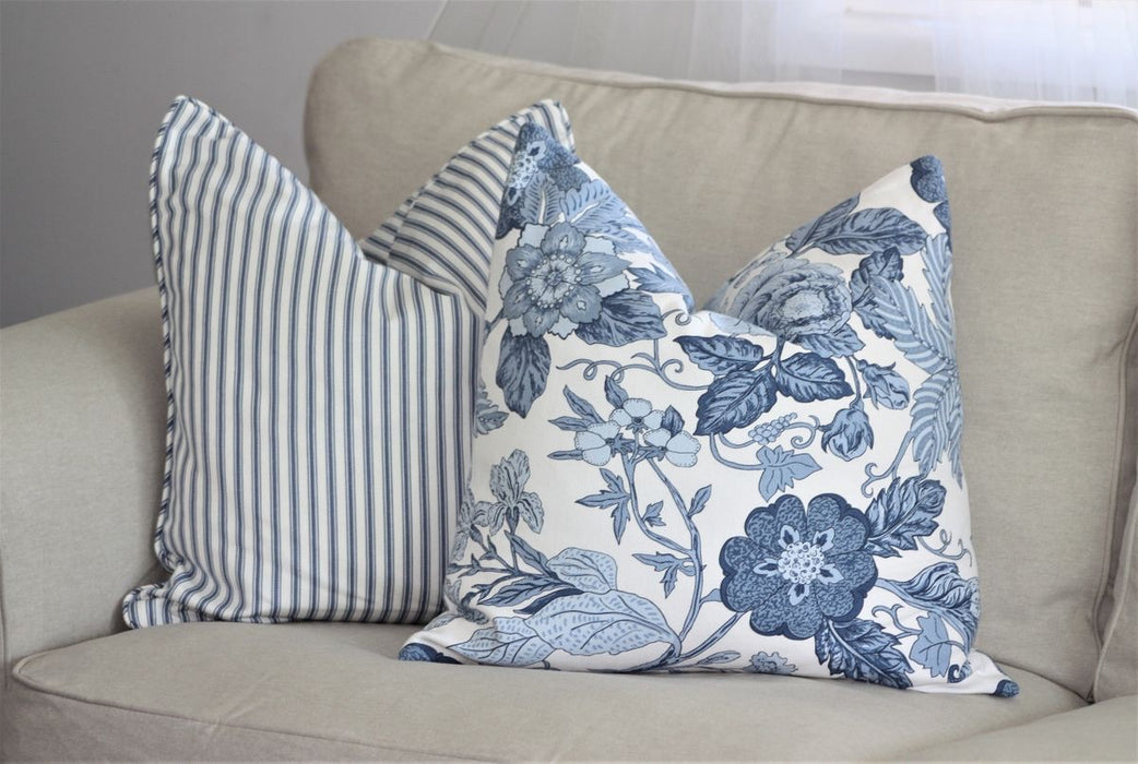 Bohemian Blossom Blue Cushion