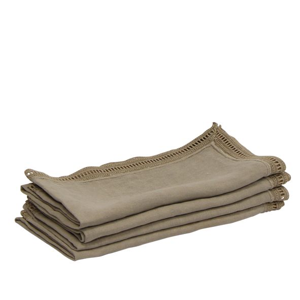 Emmeline Natural Napkins Set of 4