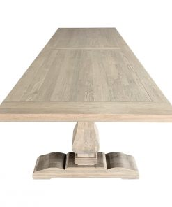 Oak Trestle Rectangular Dining Table Weathered Oak
