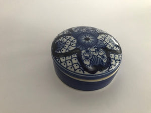 ADA TRINKET BOX IN BLUE AND WHITE