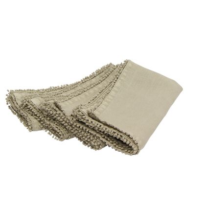 Set of 4 Taupe Bauble Napkins