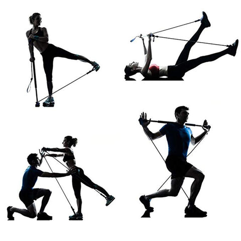PROACTIVE™ PORTABLE PILATES BAR KIT WITH RESISTANCE BAND EXERCISE STICK