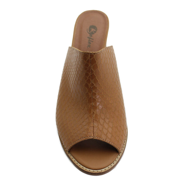 Sandalia Cuero Casual Camel Be Flex