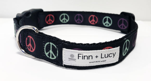 Power to the Peaceful - Collar - Finn & Lucy Premium Pet Gear