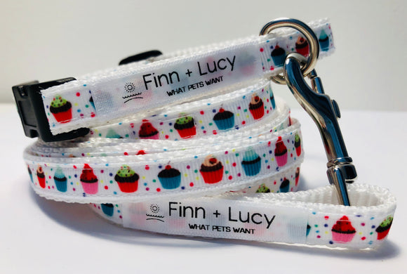 Cupcake Love - Matched Set - Finn & Lucy Premium Pet Gear