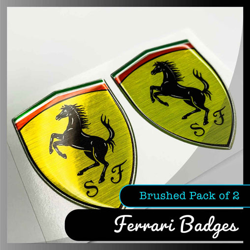 ferrari domed stickers pack of 2