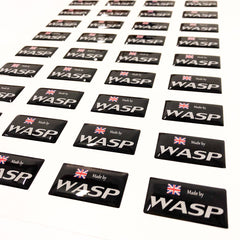 wasp resin flexible domed labels