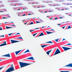 british flag domed stickers