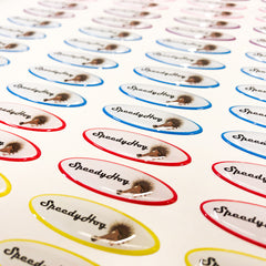domed resin oval custom stickers