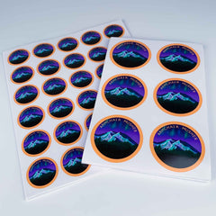 Custom Round stickers - Many sizes and finishes to choose from.