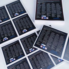 Laminated Custom Square Stickers - Many sizes and finishes to choose from.