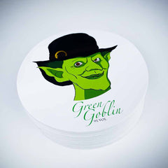 Green goblin round laminated stickers
