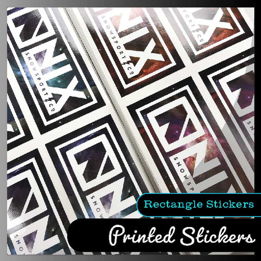 Rectangle stickers - Smash signs ltd