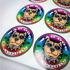 Laminated Custom round stickers - Many sizes and finishes to choose from. - Smash signs ltd