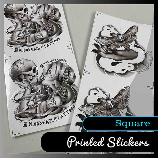 Square stickers - Many sizes and finishes to choose from. - Smash signs ltd