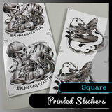 Square stickers - Many sizes and finishes to choose from.