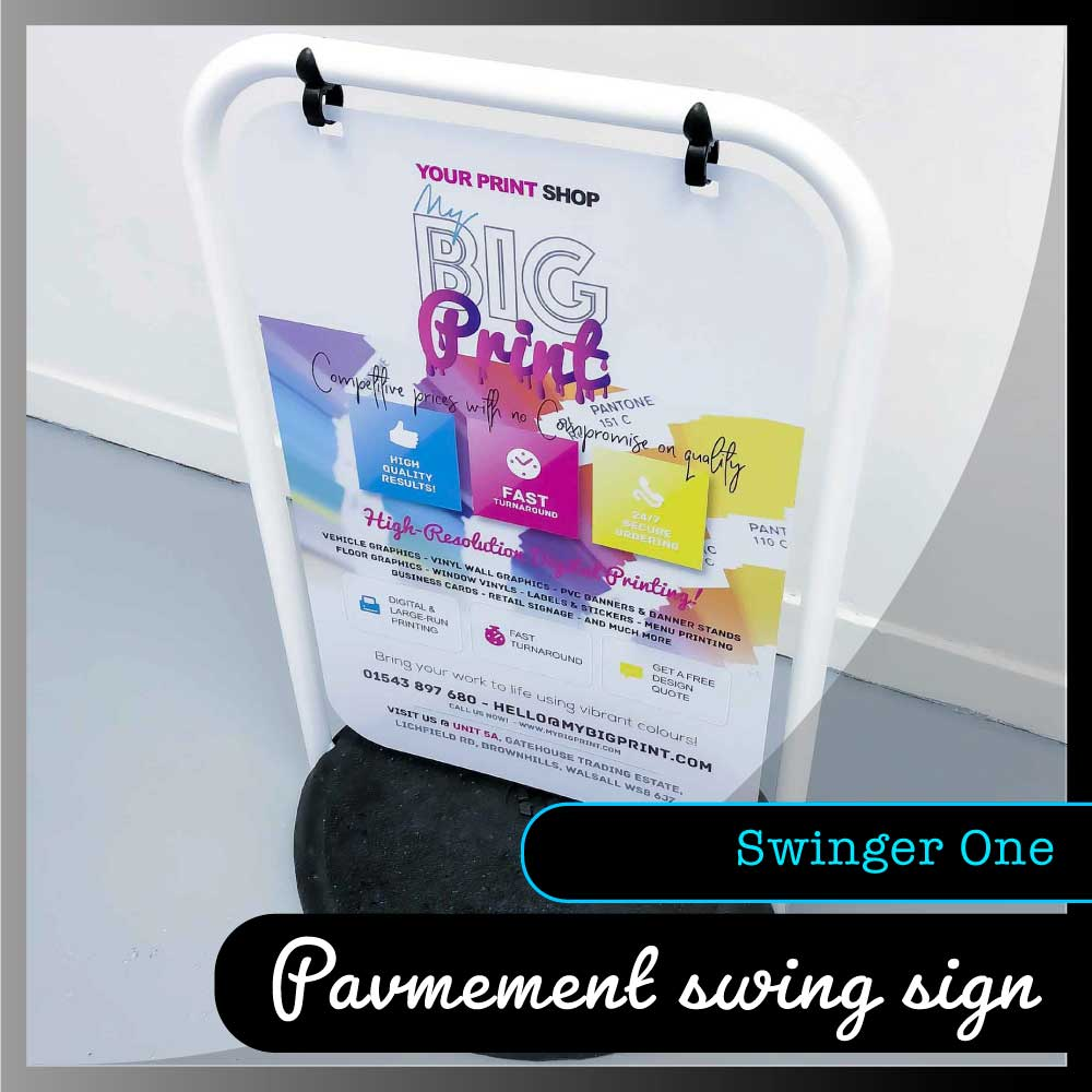 Pavement Swing Signs - Swinger One