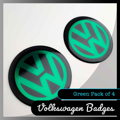 volkswagen green domed badges