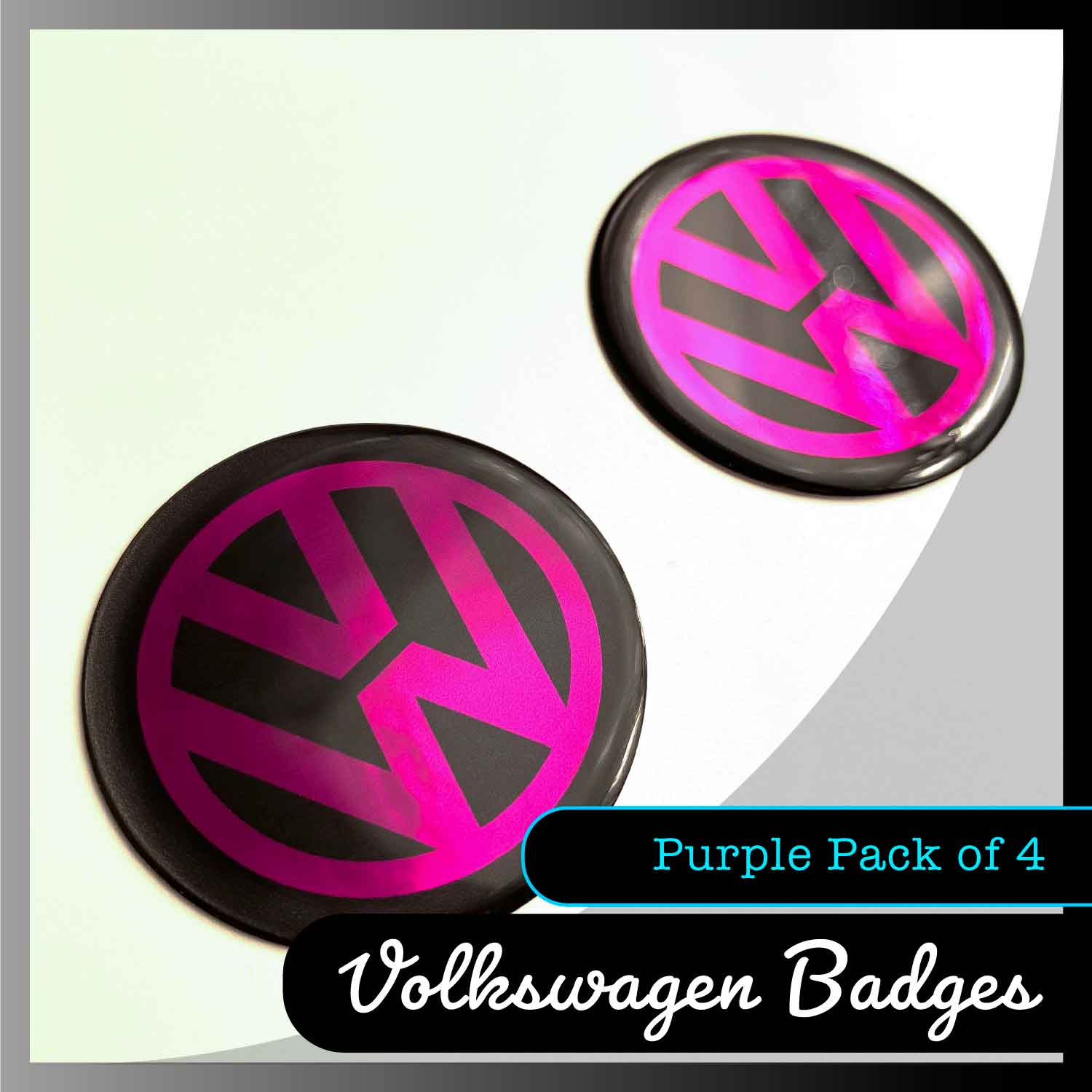 volkswagen purple domed badges