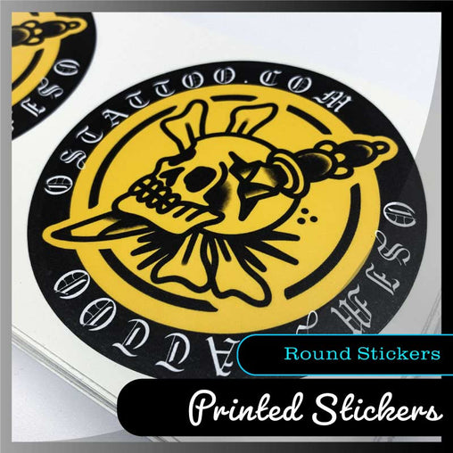 Custom Round stickers - Many sizes and finishes to choose from. - Smash signs ltd