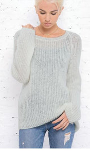 Sweater Lightweight Chunky Crew in Dunescape by Wooden Ships
