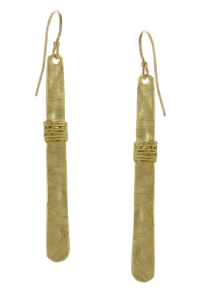 Takobia Earrings- gold stick with wire