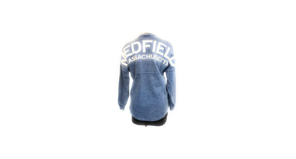 Medfield Mineral Wash Lace-up Sweatshirt Sky Blue