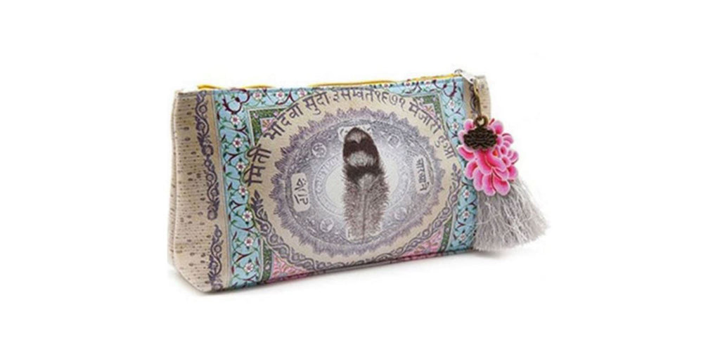 Love Feather Small Tassel Pouch by Papaya